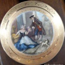 Antigüedades: PLATO PORCELANA CENEFA ORO..ARTBOURG GERMANY Nº26..CRIES OF LONDON . SWEET ORANGES.. Lote 235110740