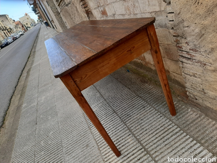 Antigüedades: Mesa rústica antigua de masia - Foto 4 - 235120655