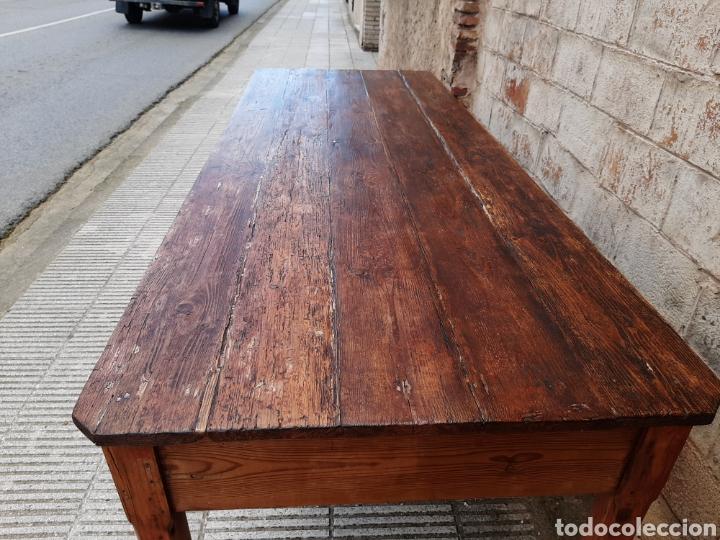 Antigüedades: Mesa rústica antigua de masia - Foto 6 - 235120655