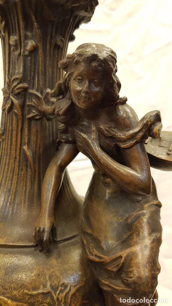 Antigüedades: PAREJA JARROS CALAMINA TRANSFORMADOS EN LAMPARAS - Foto 5 - 235123000