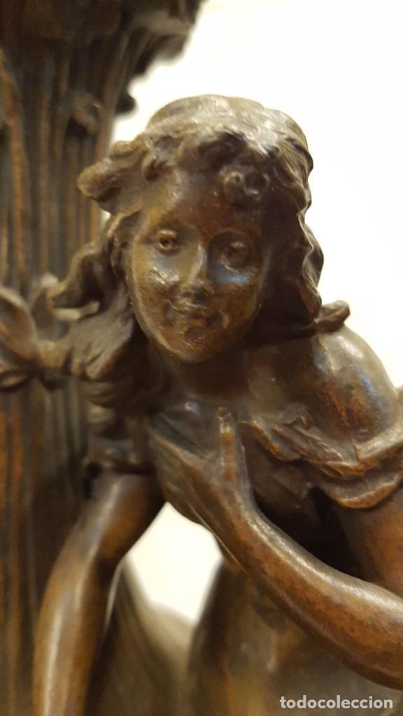 Antigüedades: PAREJA JARROS CALAMINA TRANSFORMADOS EN LAMPARAS - Foto 6 - 235123000