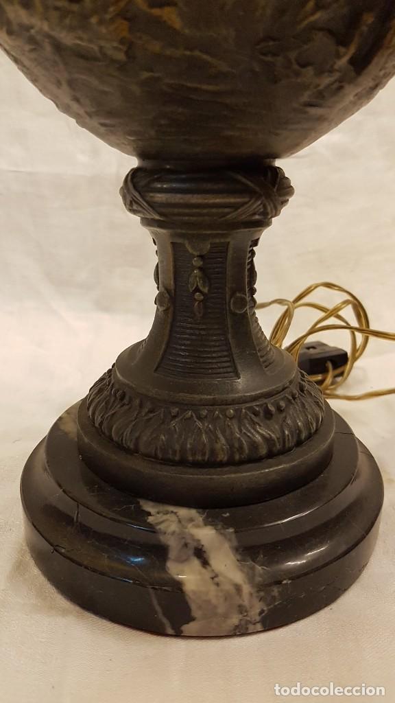 Antigüedades: PAREJA JARROS CALAMINA TRANSFORMADOS EN LAMPARAS - Foto 9 - 235123000