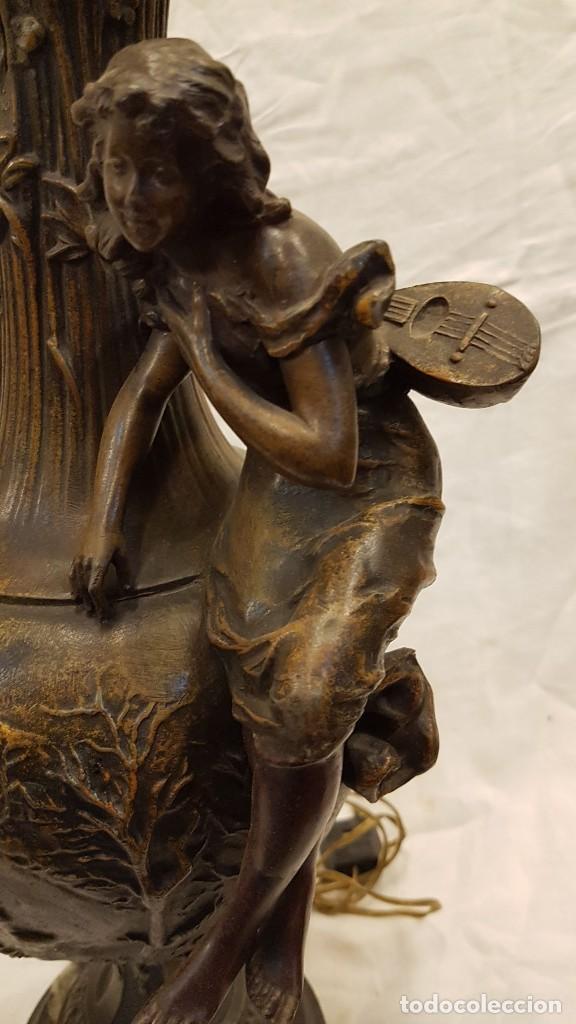 Antigüedades: PAREJA JARROS CALAMINA TRANSFORMADOS EN LAMPARAS - Foto 10 - 235123000