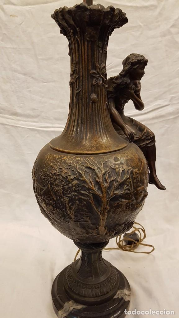 Antigüedades: PAREJA JARROS CALAMINA TRANSFORMADOS EN LAMPARAS - Foto 13 - 235123000