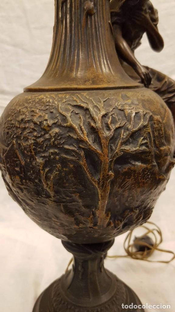 Antigüedades: PAREJA JARROS CALAMINA TRANSFORMADOS EN LAMPARAS - Foto 14 - 235123000