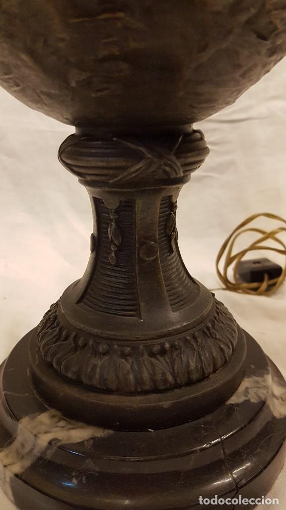Antigüedades: PAREJA JARROS CALAMINA TRANSFORMADOS EN LAMPARAS - Foto 15 - 235123000