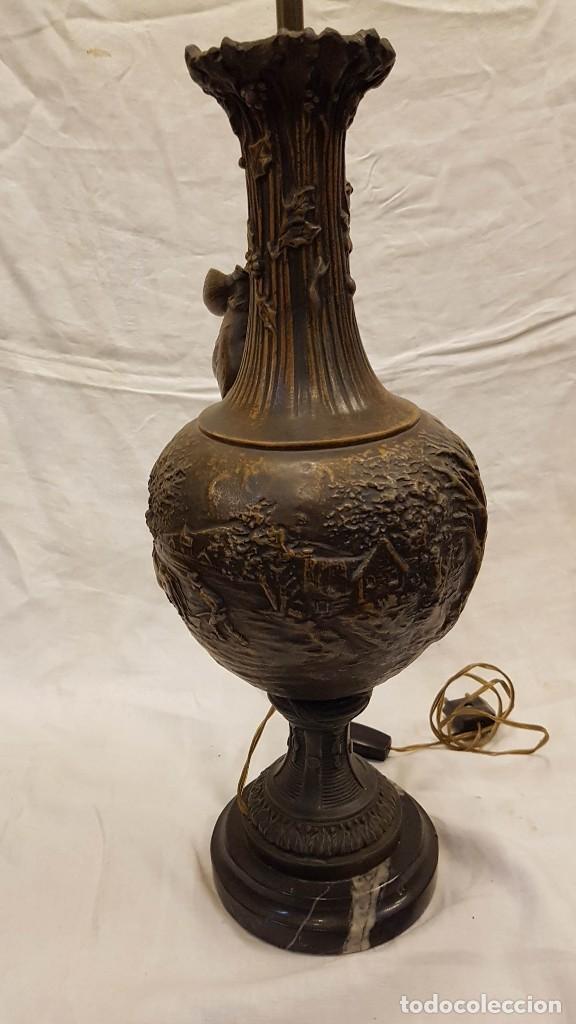 Antigüedades: PAREJA JARROS CALAMINA TRANSFORMADOS EN LAMPARAS - Foto 16 - 235123000