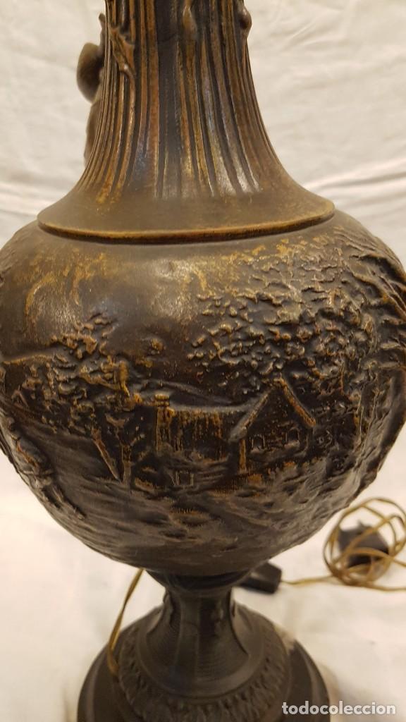 Antigüedades: PAREJA JARROS CALAMINA TRANSFORMADOS EN LAMPARAS - Foto 17 - 235123000