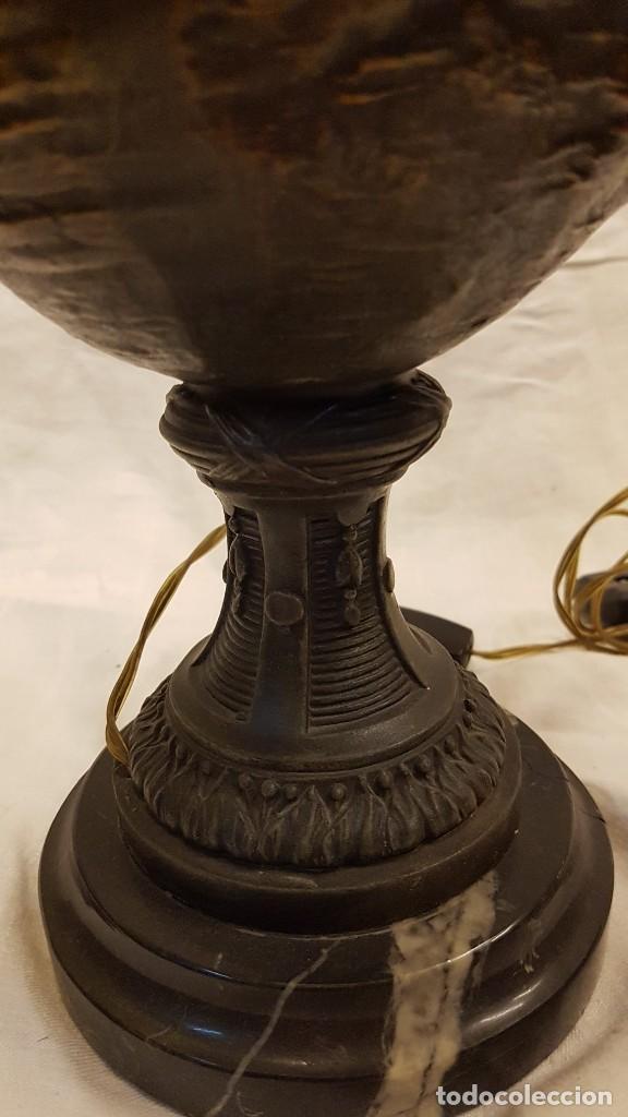 Antigüedades: PAREJA JARROS CALAMINA TRANSFORMADOS EN LAMPARAS - Foto 18 - 235123000