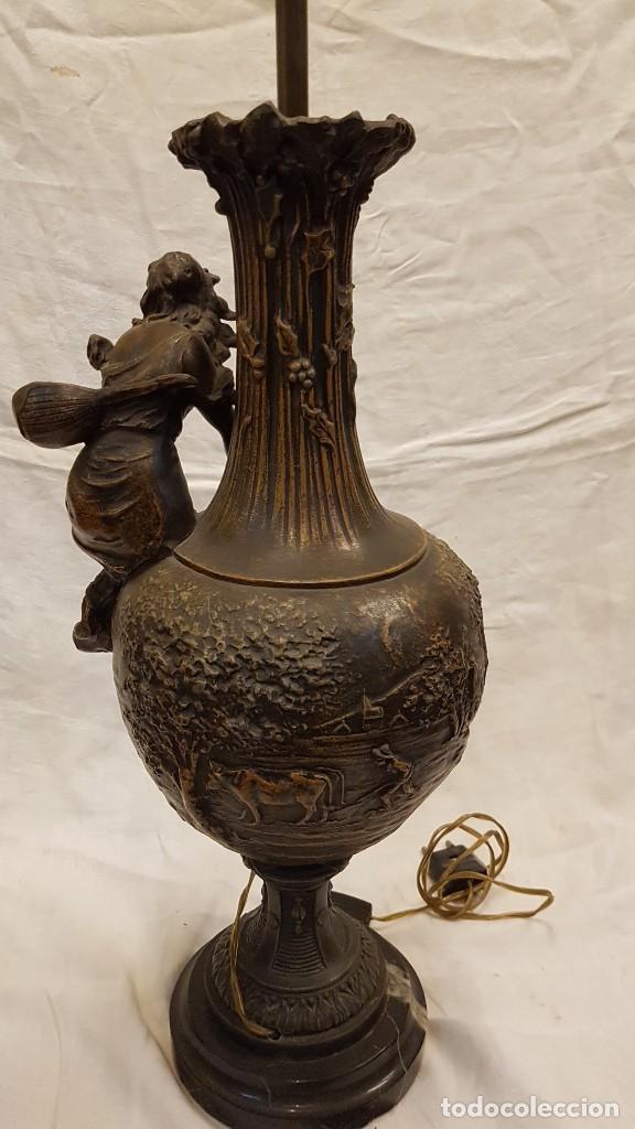 Antigüedades: PAREJA JARROS CALAMINA TRANSFORMADOS EN LAMPARAS - Foto 20 - 235123000