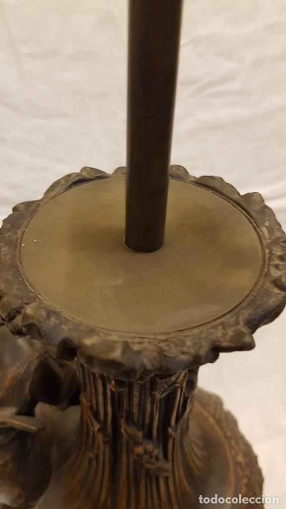 Antigüedades: PAREJA JARROS CALAMINA TRANSFORMADOS EN LAMPARAS - Foto 26 - 235123000