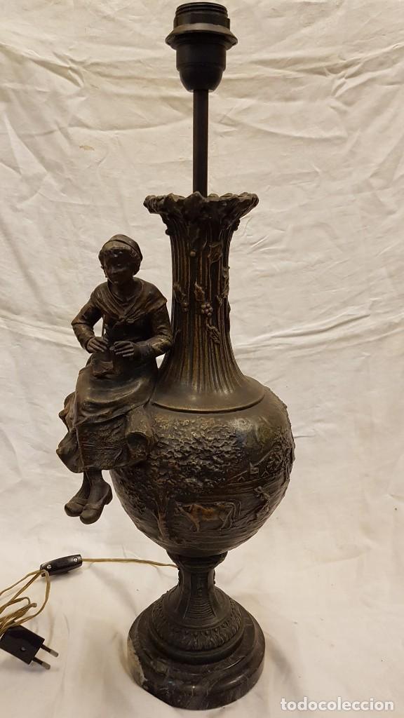 Antigüedades: PAREJA JARROS CALAMINA TRANSFORMADOS EN LAMPARAS - Foto 30 - 235123000