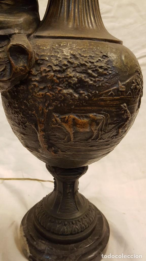 Antigüedades: PAREJA JARROS CALAMINA TRANSFORMADOS EN LAMPARAS - Foto 36 - 235123000