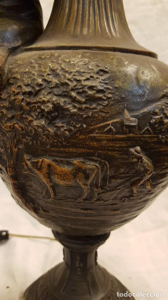 Antigüedades: PAREJA JARROS CALAMINA TRANSFORMADOS EN LAMPARAS - Foto 38 - 235123000