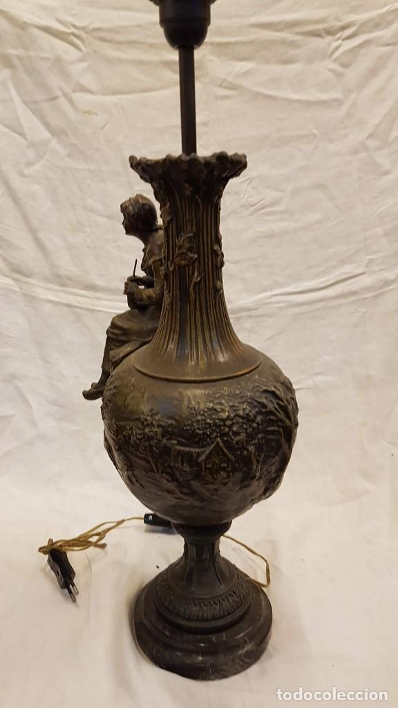 Antigüedades: PAREJA JARROS CALAMINA TRANSFORMADOS EN LAMPARAS - Foto 39 - 235123000