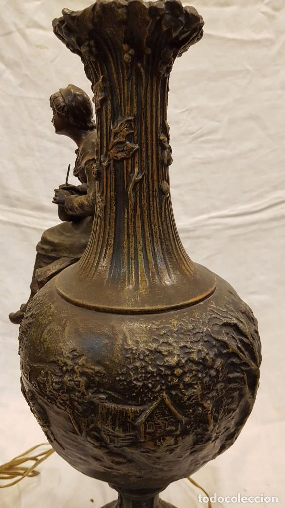 Antigüedades: PAREJA JARROS CALAMINA TRANSFORMADOS EN LAMPARAS - Foto 40 - 235123000