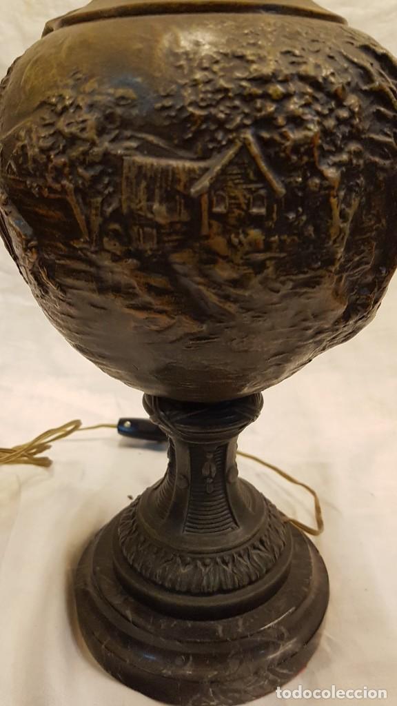 Antigüedades: PAREJA JARROS CALAMINA TRANSFORMADOS EN LAMPARAS - Foto 41 - 235123000
