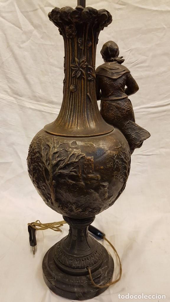 Antigüedades: PAREJA JARROS CALAMINA TRANSFORMADOS EN LAMPARAS - Foto 42 - 235123000