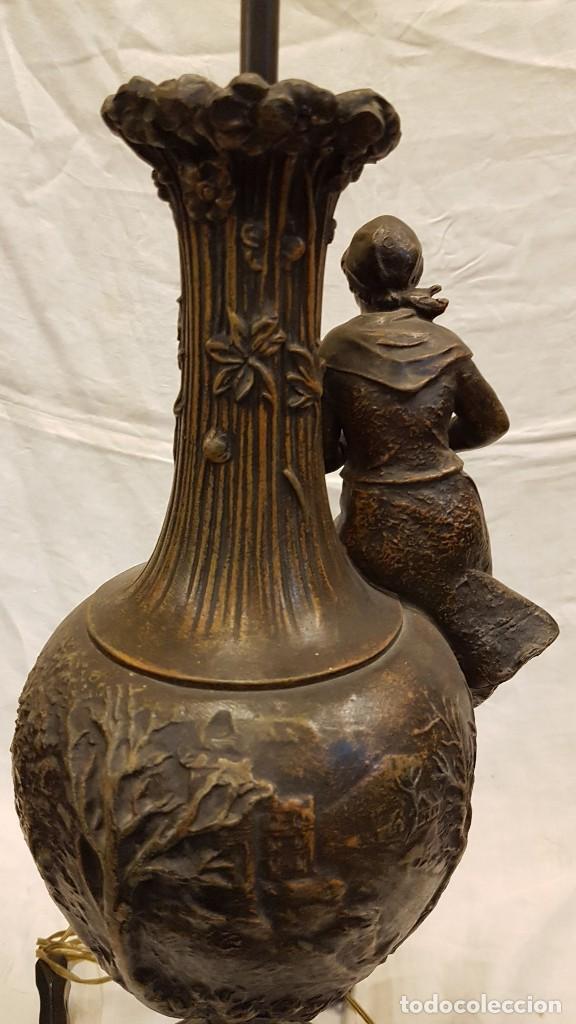 Antigüedades: PAREJA JARROS CALAMINA TRANSFORMADOS EN LAMPARAS - Foto 43 - 235123000