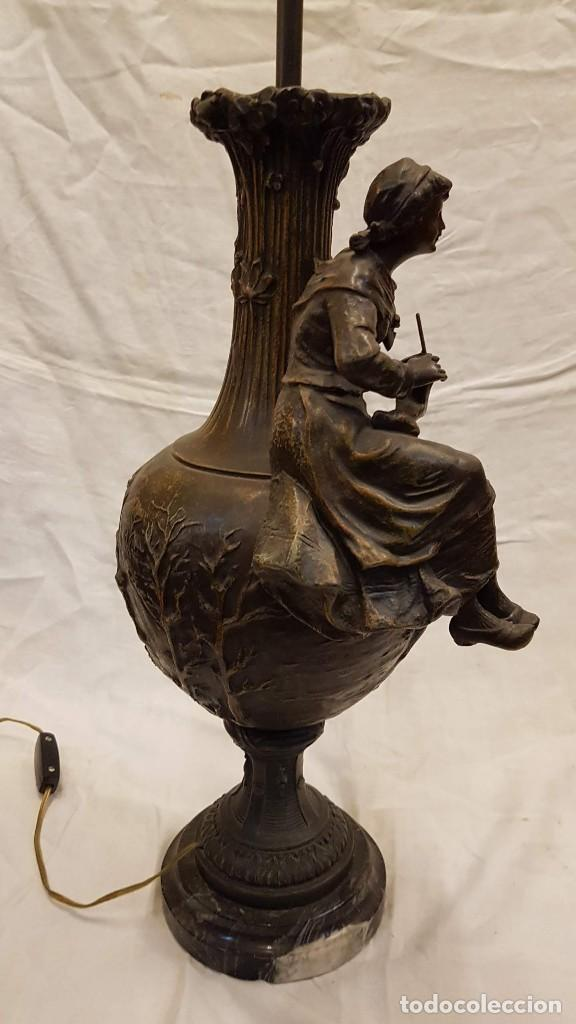 Antigüedades: PAREJA JARROS CALAMINA TRANSFORMADOS EN LAMPARAS - Foto 46 - 235123000