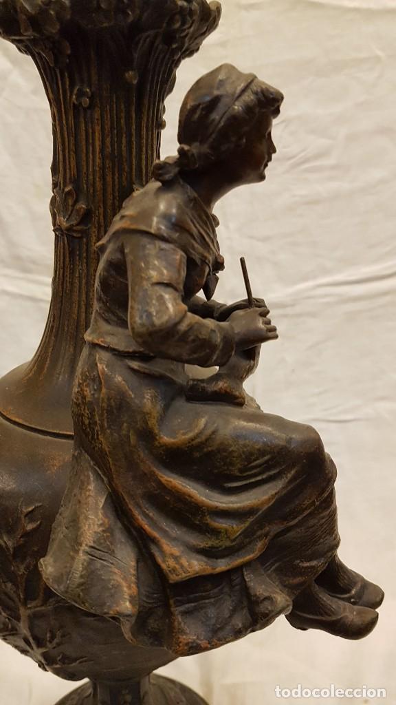 Antigüedades: PAREJA JARROS CALAMINA TRANSFORMADOS EN LAMPARAS - Foto 47 - 235123000