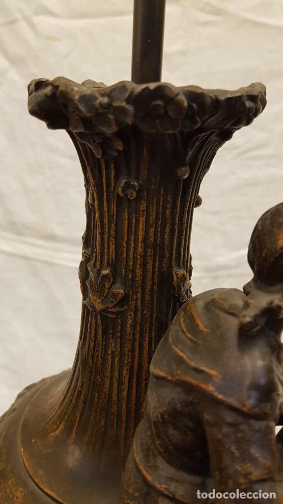 Antigüedades: PAREJA JARROS CALAMINA TRANSFORMADOS EN LAMPARAS - Foto 48 - 235123000
