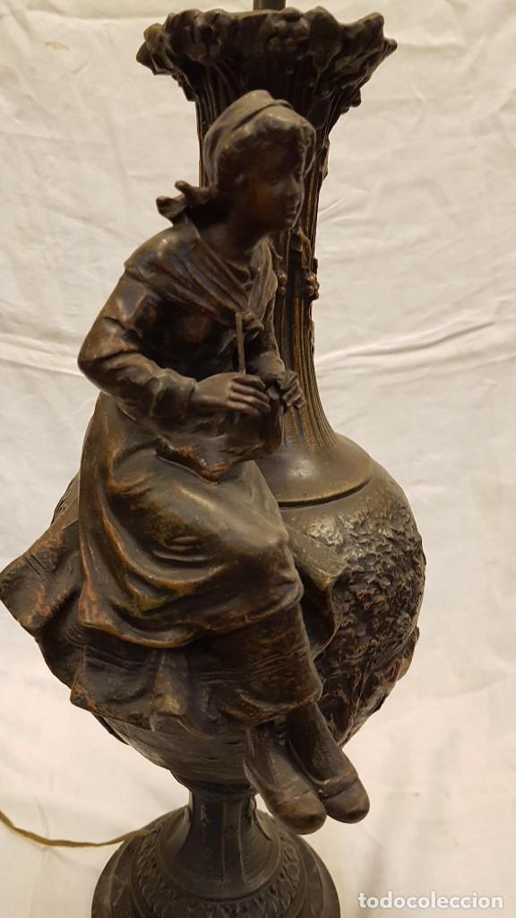 Antigüedades: PAREJA JARROS CALAMINA TRANSFORMADOS EN LAMPARAS - Foto 49 - 235123000