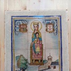 Antigüedades: PANEL AZULEJOS: VERGE DE MERITXELL (PATRONA D'ANDORRA) VENTA EXCLUSIVA EN ANDORRA. EN MANO.. Lote 235123385