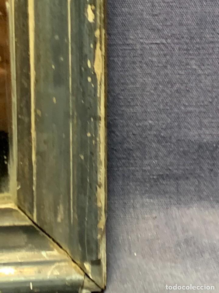 Antigüedades: ESPEJO FRANCES PEQUEÑO S XIX TRASERA CROMOLITOGRAFIA MILITAR CARGA INFANTERIA 36X28CMS - Foto 3 - 235129745