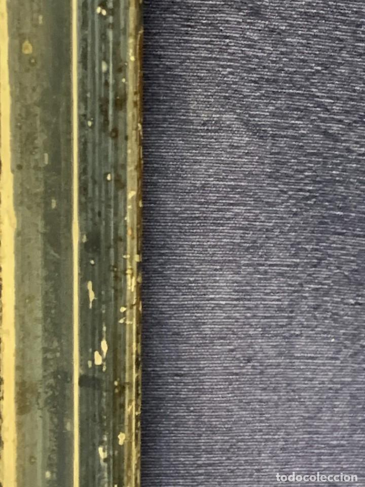 Antigüedades: ESPEJO FRANCES PEQUEÑO S XIX TRASERA CROMOLITOGRAFIA MILITAR CARGA INFANTERIA 36X28CMS - Foto 4 - 235129745