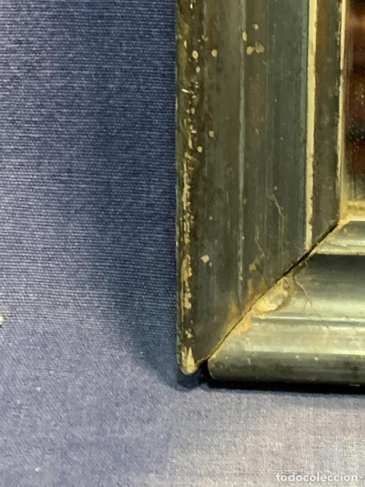 Antigüedades: ESPEJO FRANCES PEQUEÑO S XIX TRASERA CROMOLITOGRAFIA MILITAR CARGA INFANTERIA 36X28CMS - Foto 6 - 235129745