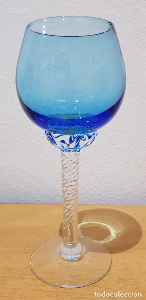 LOTE 11 COPAS CRISTAL MURANO - AÑOS 60 (VER DETALLES) (Antigüedades - Cristal y Vidrio - Murano)