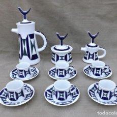 Antigüedades: JUEGO DE CAFE, 6 SERVICIOS, PORCELANA DE SARGADELOS MONFÉRICO, AÑOS 60/70. Lote 235179155
