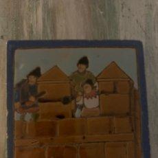 Antigüedades: AZULEJO MENSAQUE RODRÍGUEZ Y CÍA.. Lote 235184680