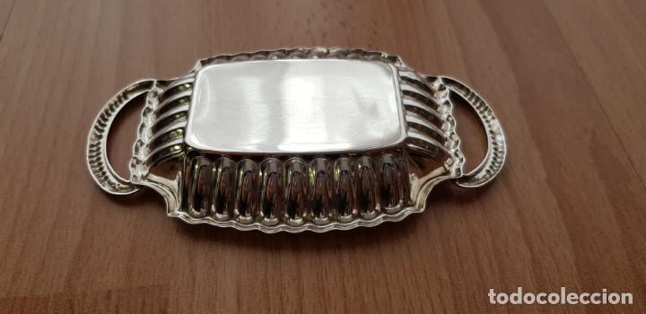 Antigüedades: Bandejita de tocador, plata de ley (ver descripción) - Foto 2 - 235194000