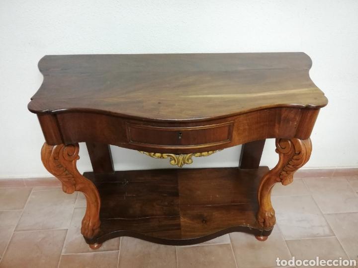 Antigüedades: Consola caoba restaurada - Foto 2 - 235222795