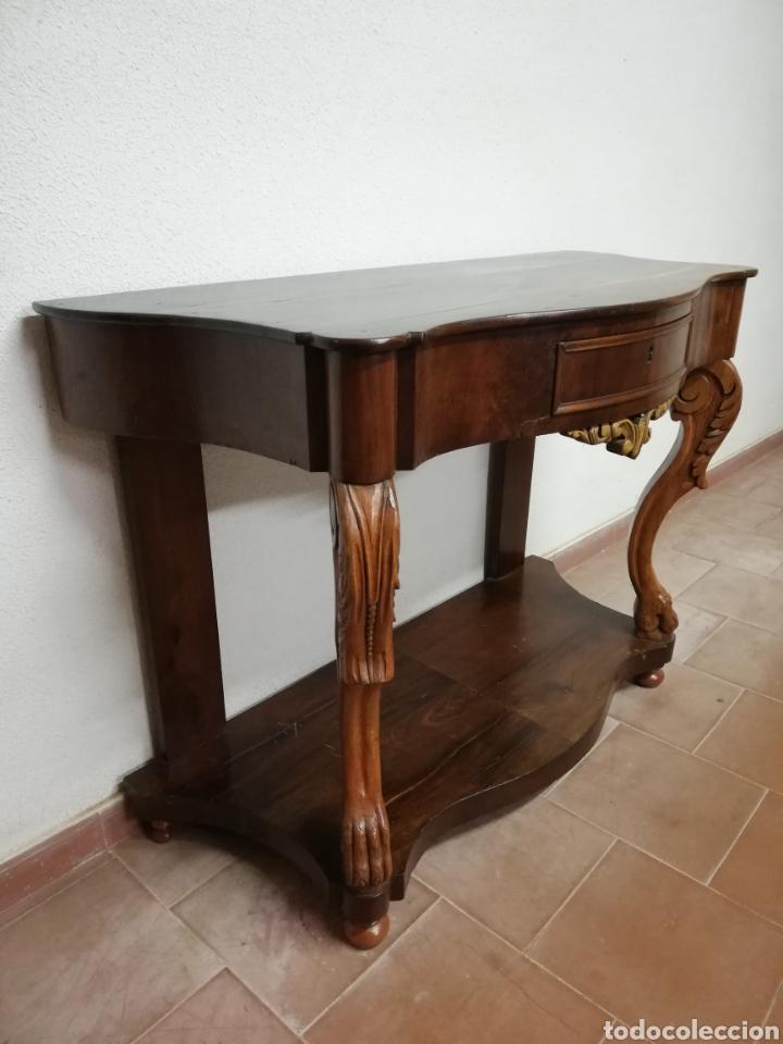 Antigüedades: Consola caoba restaurada - Foto 4 - 235222795