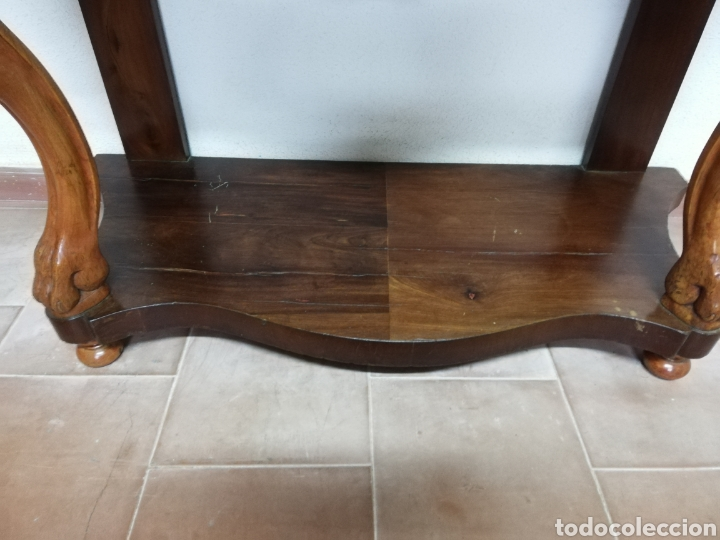 Antigüedades: Consola caoba restaurada - Foto 6 - 235222795