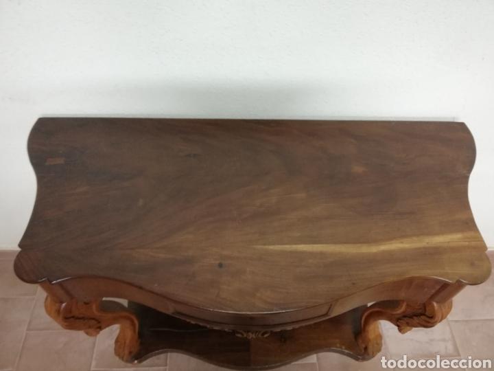 Antigüedades: Consola caoba restaurada - Foto 7 - 235222795