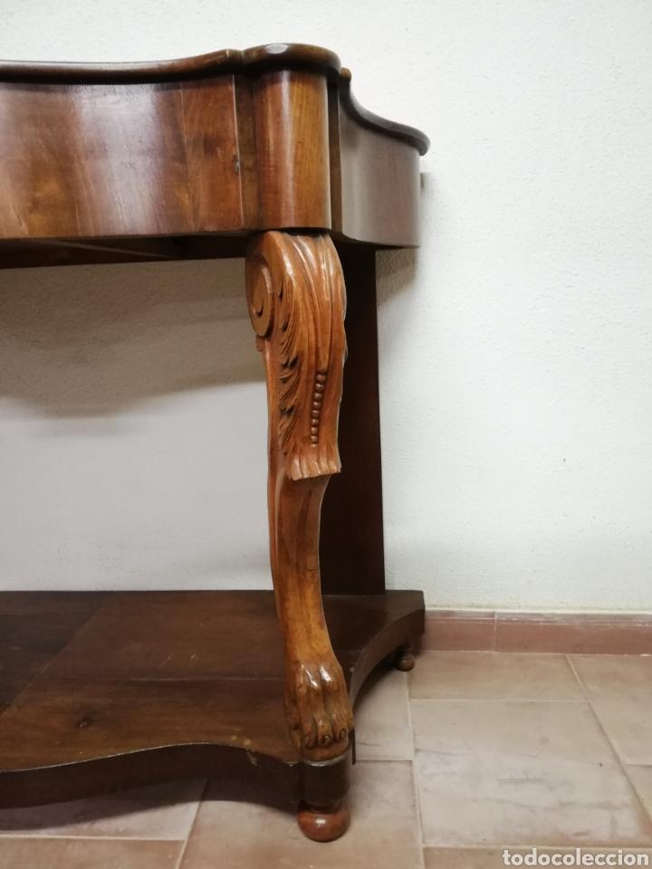 Antigüedades: Consola caoba restaurada - Foto 8 - 235222795