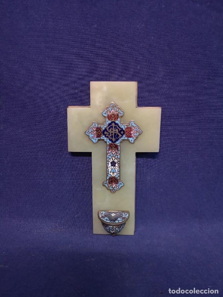 CRUZ BENDITERA FRANCESA (Antigüedades - Religiosas - Cruces Antiguas)