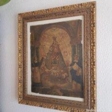 Antigüedades: ANTIGUO CUADRO CON LÁMINA VIRGEN DE LOS DESAMPARADOS. Lote 235276005