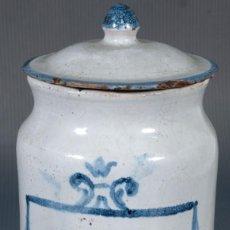 Antigüedades: BOTE DE FARMACIA EN CERÁMICA DE TERUEL SIGLO XVIII. Lote 235285205