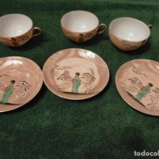 Antigüedades: ANTIGUAS 3 TAZA / TAZAS DE PORCELANA FINA CHINA AÑOS 30-40. Lote 235293025