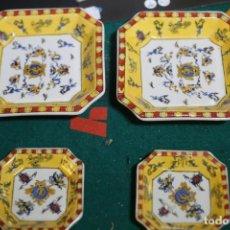 Antigüedades: CONJUNTO 4 PLATOS SIN MARCA UNO DE LOS PEQUEÑOS RAJADO VER FOTOS. Lote 235305640