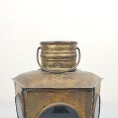 Antigüedades: ANTIGUO FAROL DE FERROCARRIL O BALIZA DE EMBARCACIÓN S. XIX.. Lote 235310905