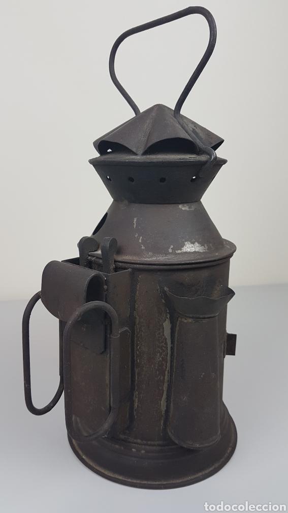 Antigüedades: ANTIGUO FAROL DE MANO DE FERROCARRIL / TREN RENFE. H. MOZO VALLADOLID. S. XIX. - Foto 6 - 235315415