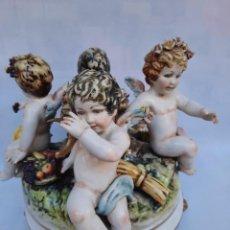 Antigüedades: PORCELANA SALVADOR MALLART-QUERUBINES-. Lote 235329140