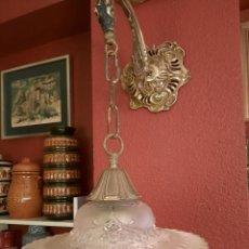 Antigüedades: FAROL DE PARED MODERNISTA-. Lote 235333740