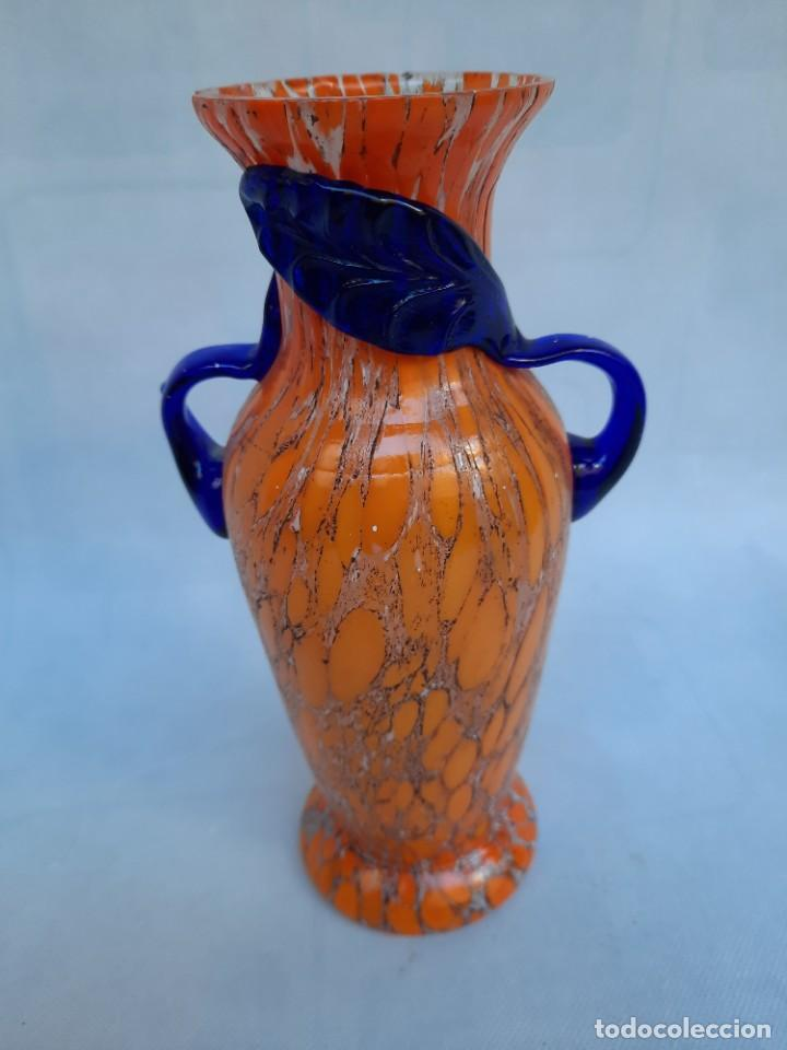 JARRON CON ASAS-MURANO- (Antigüedades - Cristal y Vidrio - Murano)